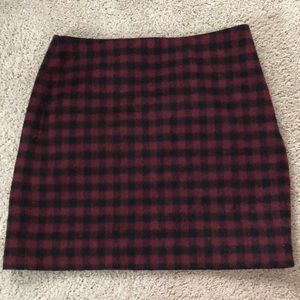 Madewell plaid skirt